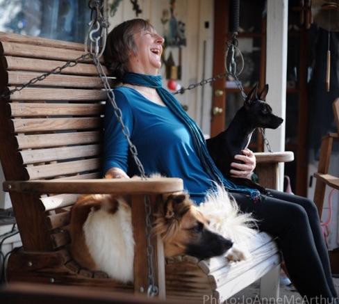 Carol Adams porch swing pic
