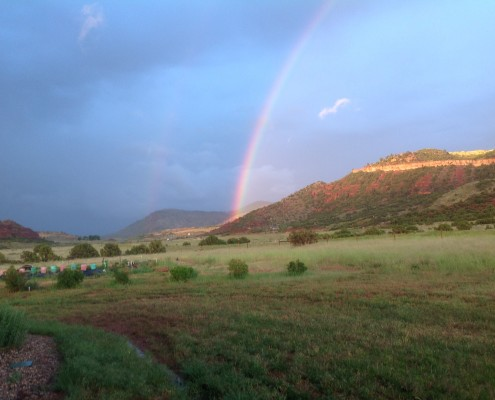 A rainbow after a sudden rainstorm near Casper, Wyoming. | Janet Bohren