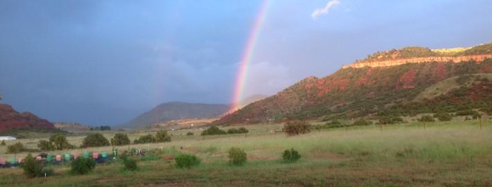 A rainbow after a sudden rainstorm near Casper, Wyoming. | Janet Bohren