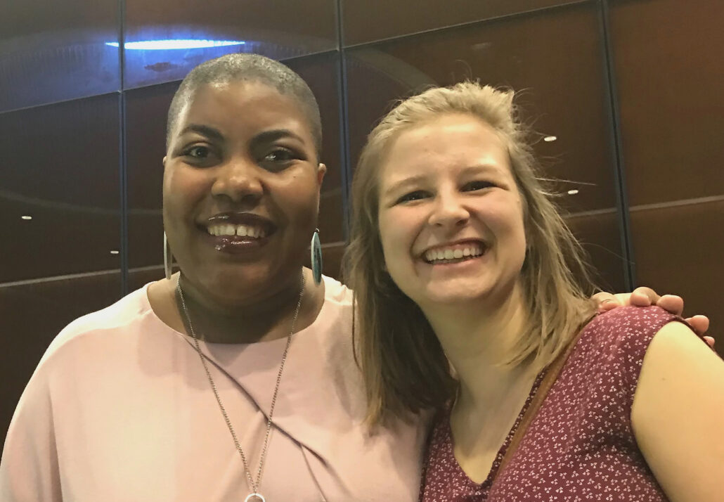 Laura Carr-Pries and Techika Rhodes