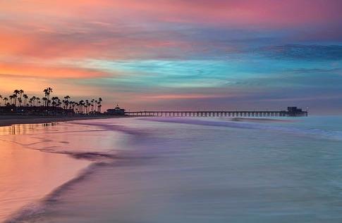 NEWPORT  Beach pier CA