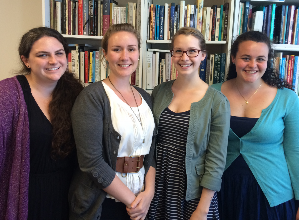 WATER Interns from Left to Right: Cathy Jaskey, Melody Stanford, Ciara Chivers, and Jacqueline Small